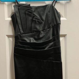 Beautiful black strapless dress
